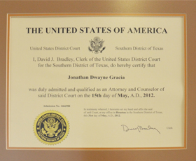Federal Court Certification, May 31, 2012